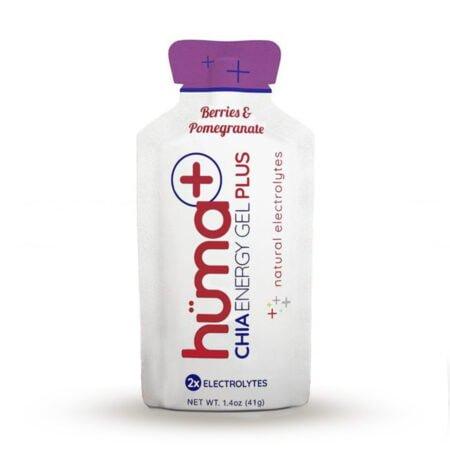 huma chia energy gel plus berries pomegranate fresa granada vegano