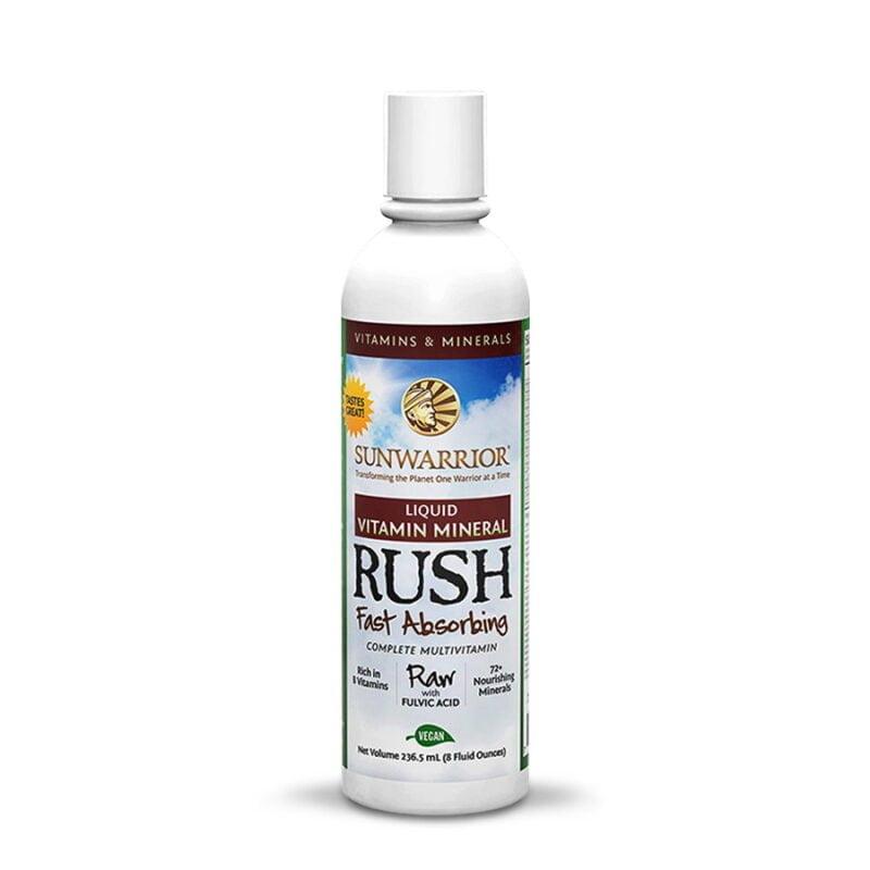 Liquid Vitamin Mineral Rush Complejo B Sunwarrior Vegano Plant Based
