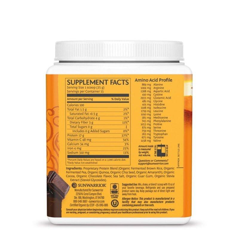 Classic Plus Protein Chocolate 375g Sunwarrior Proteína Vegana Plant Based