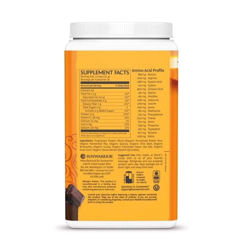 Classic Plus Protein Chocolate 750g Sunwarrior Proteína Vegana Plant Based