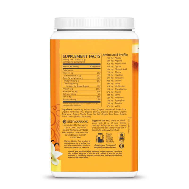 Classic Plus Protein Vainilla 750g Sunwarrior Proteína Vegana Plant Based