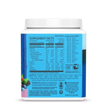 Warrior Blend Protein Berry 375g Sunwarrior Proteína Vegana Plant Based