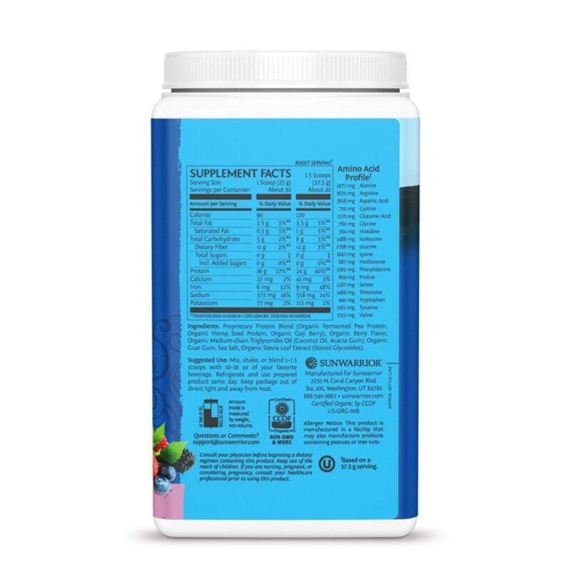Warrior Blend Protein Berry 750g Sunwarrior Proteína Vegana Plant Based