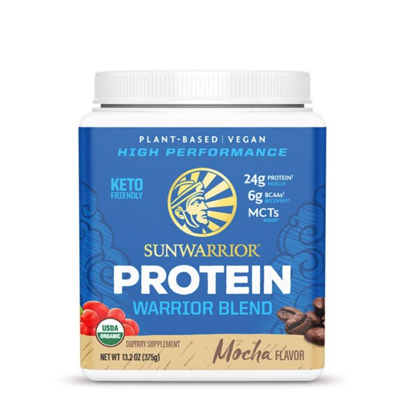 Warrior Blend Protein Mocha 375g Sunwarrior Proteína Vegana Plant Based