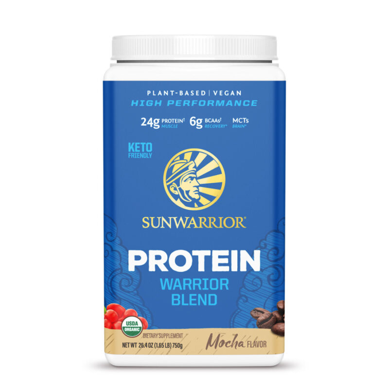 Warrior Blend Protein Mocha 750g Sunwarrior Proteína Vegana Plant Based
