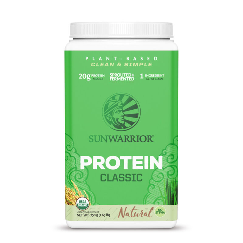 classic protein natural unflavored 750g sunwarrior proteina