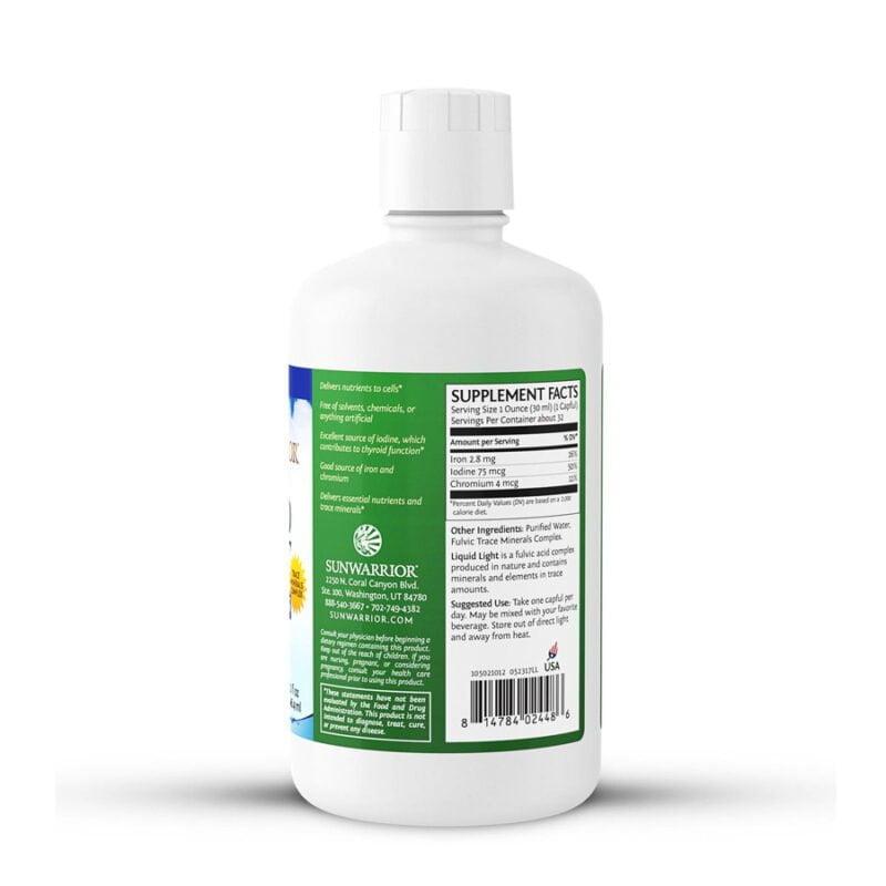 Liquid Light Minerales Fúlvicos 32 fl oz Sunwarrior Plant Based