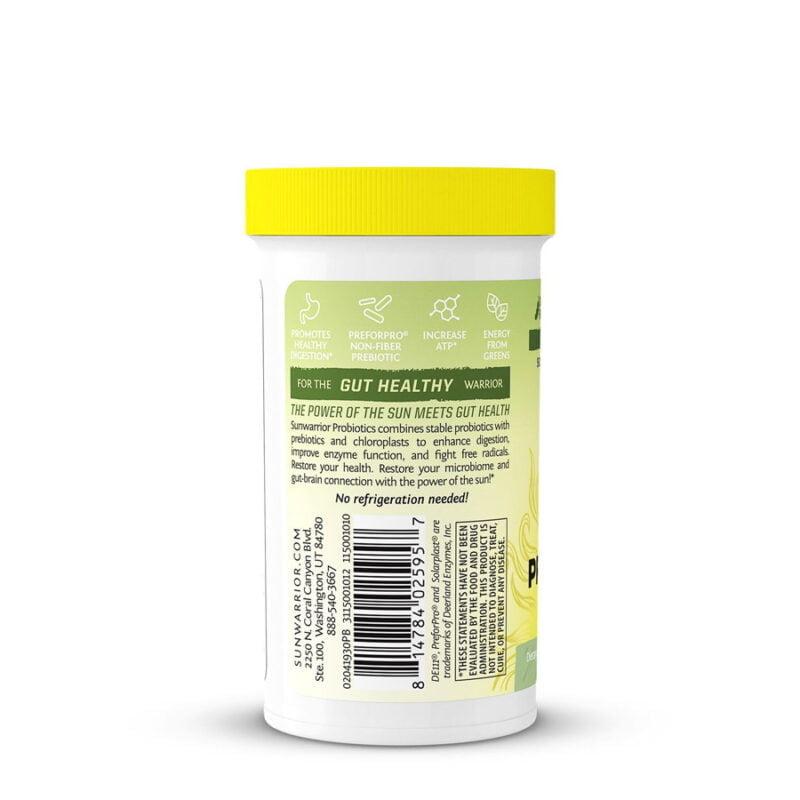 Probióticos Cápsulas Veganas Basada en plantas Sunwarrior plant based vegan capsules