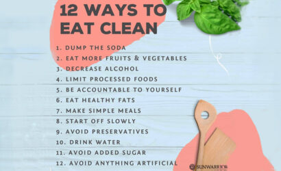 12 maneras de comer limpio y saludable