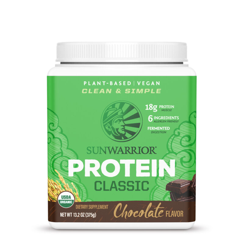 classic protein chocolate 375g sunwarrior proteina