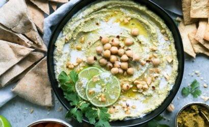 receta saludable green humus vegano plantbased
